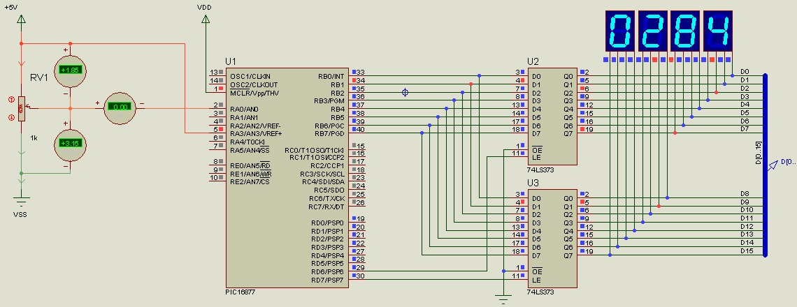 pic microcontroller adc with assembly language code PIC16F877