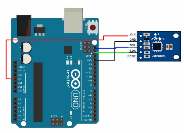 HMC5883 interfacing with Arduino
