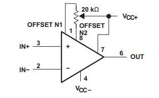 OP07 Input offset voltage Circuit