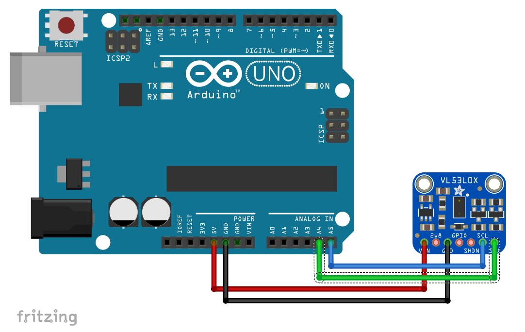 VL53L0X module interfacing with Arduino