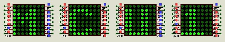 Multiple 8x8 LED matrix output with microcontroller MAX7219