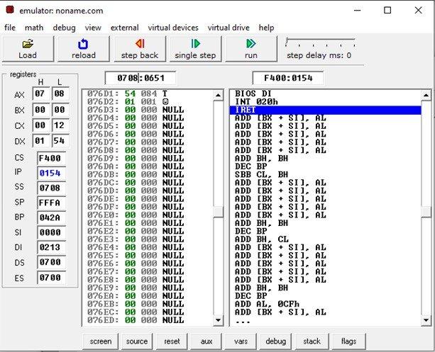 8086 Based Indexed Addressing Mode example