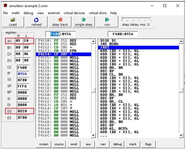 8086 immediate Addressing Mode example