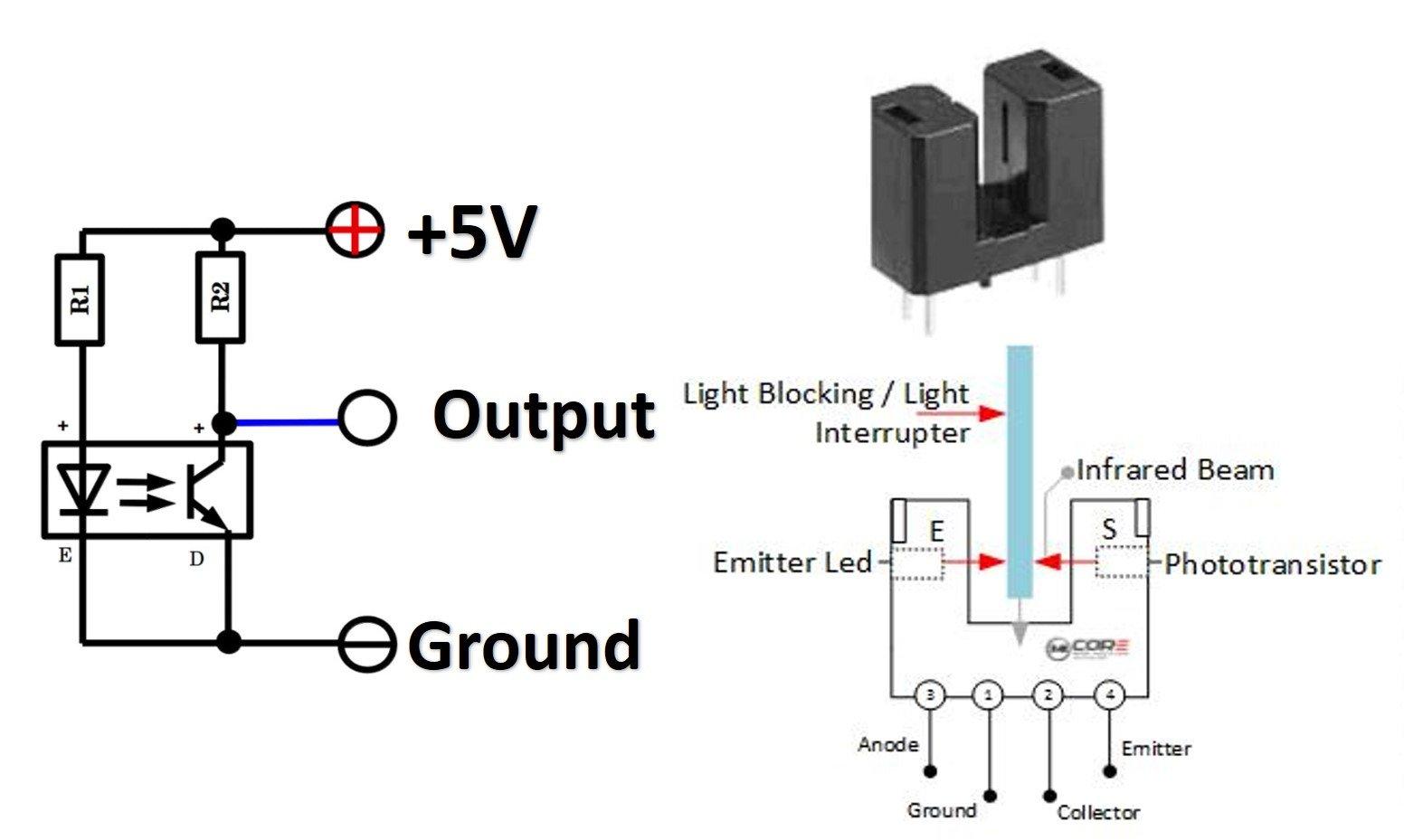 IR obstacle sensor optical Infrared Sesnor for RPM measurement