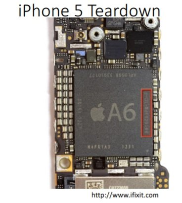 Iphone SoC processor example
