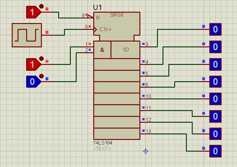 74LS164 proteus simulation 3