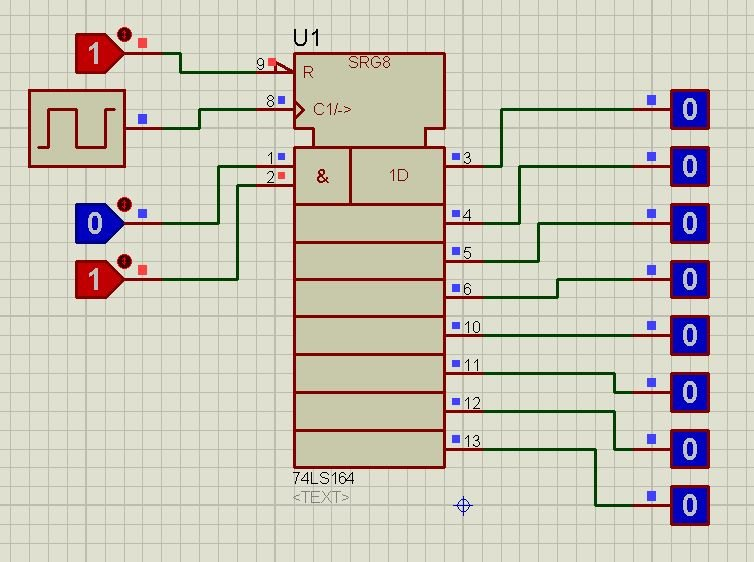 74LS164 proteus simulation 4