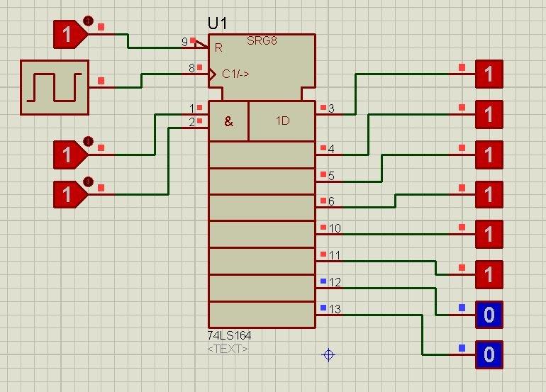 74LS164 proteus simulation 5