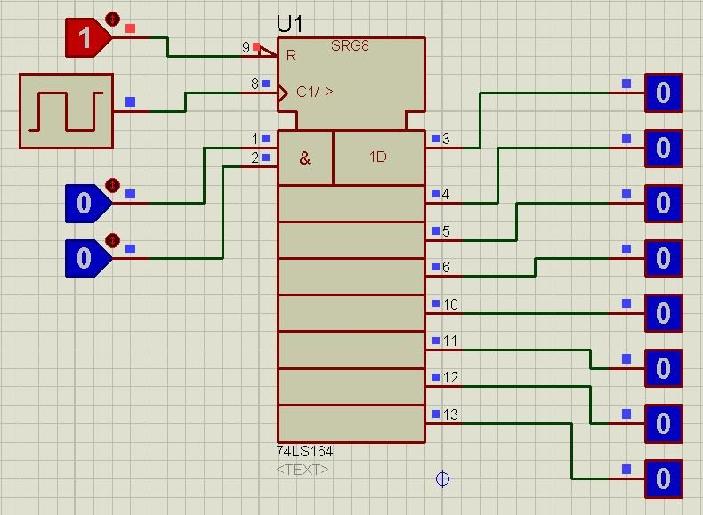 74LS164 proteus simulation 6