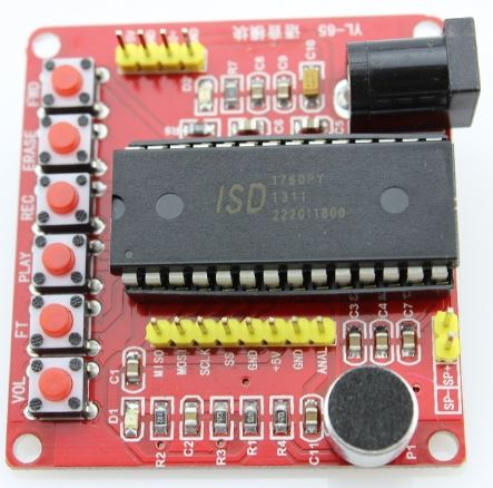 Voice Recorder and Playback Module ISD1760