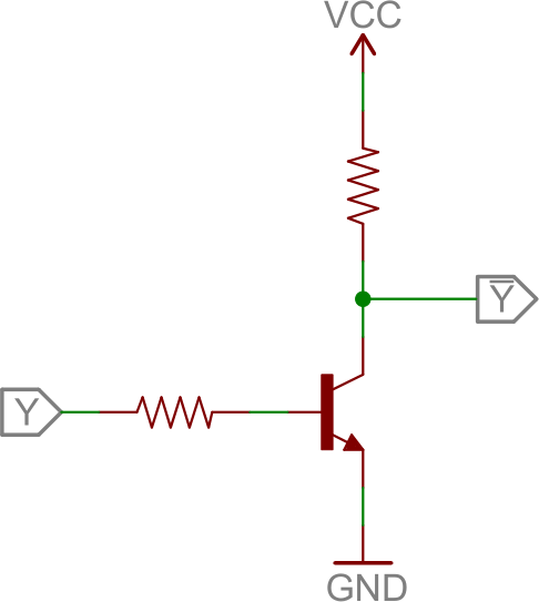2SC828 low side switching circuit