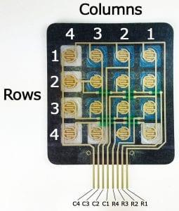 4x4 keypad internal diagram structure