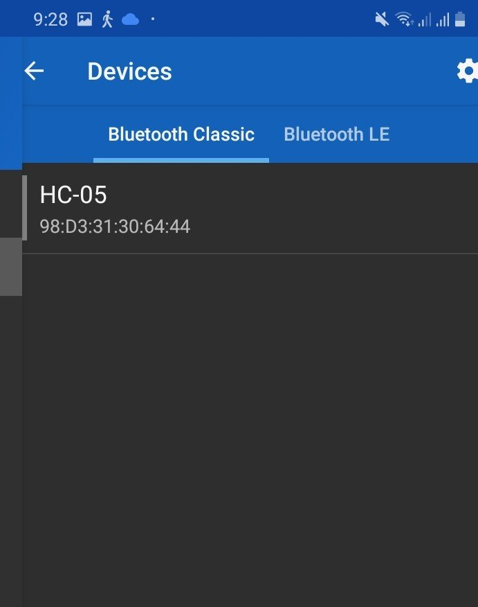 connected with HC-05