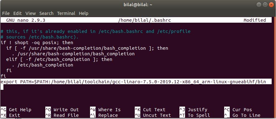 export path with bashrc