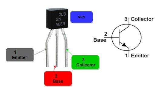 2N5089 pinout diagram