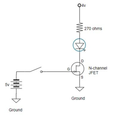 2N5457 JFET as a switch example circuit