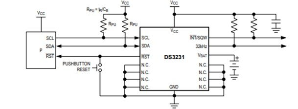 DS3231 RTC Module internal circuit diagram