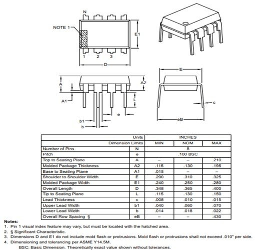 PIC12F508 2D diagram