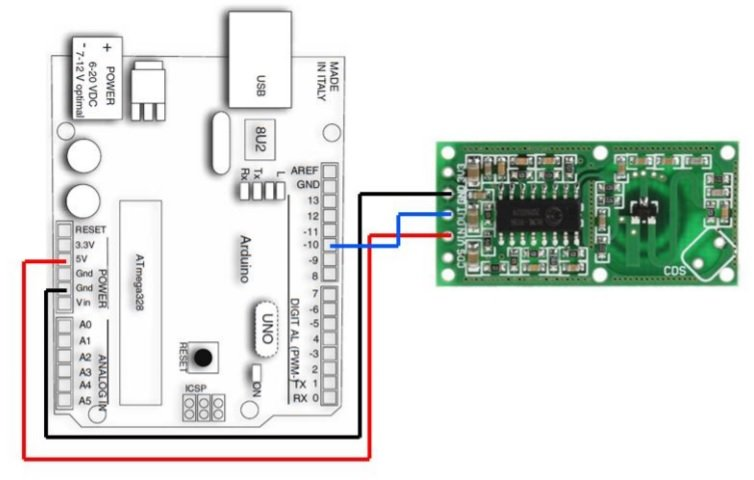 RCWL0516 microwave sensor interfacing with Arduino