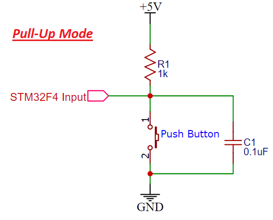 Schematic Pullup resistor STM32F4