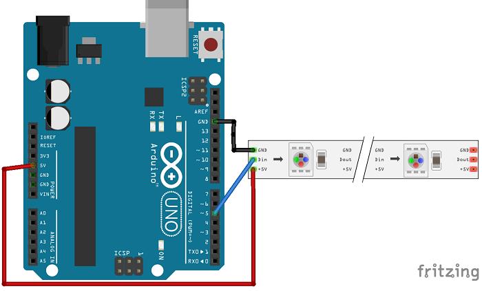 WS2812B Addressable RGB LED interfacing with Arduino