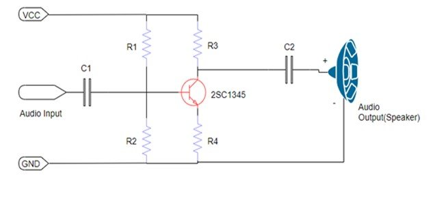 2SC1345 NPN Amplifier Transistor example circuit