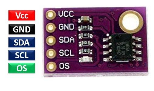 LM75 temperature sensor pinout