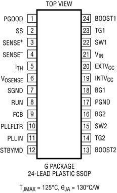 LTC3780 IC pinout diagram
