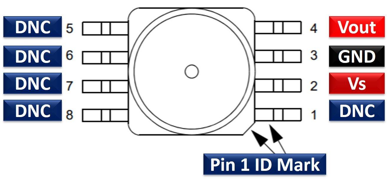 MPXV5004DP Pressure Sensor pinout