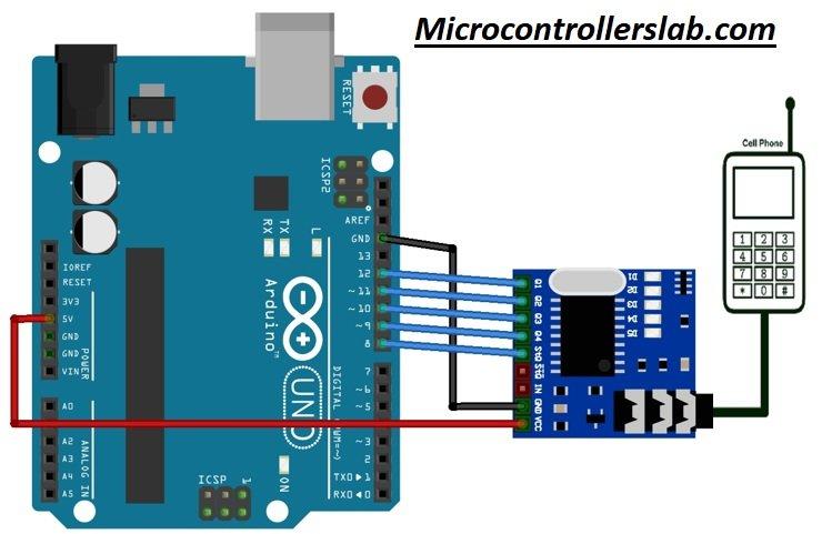 MT8870 DTMF Decoder Module interfacing with Arduino
