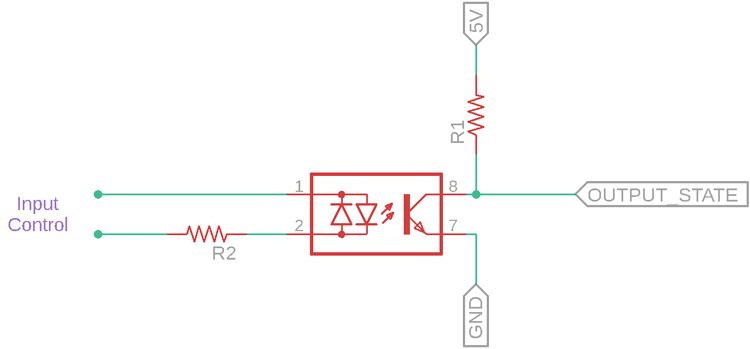 SFH620A Optocoupler example circuit