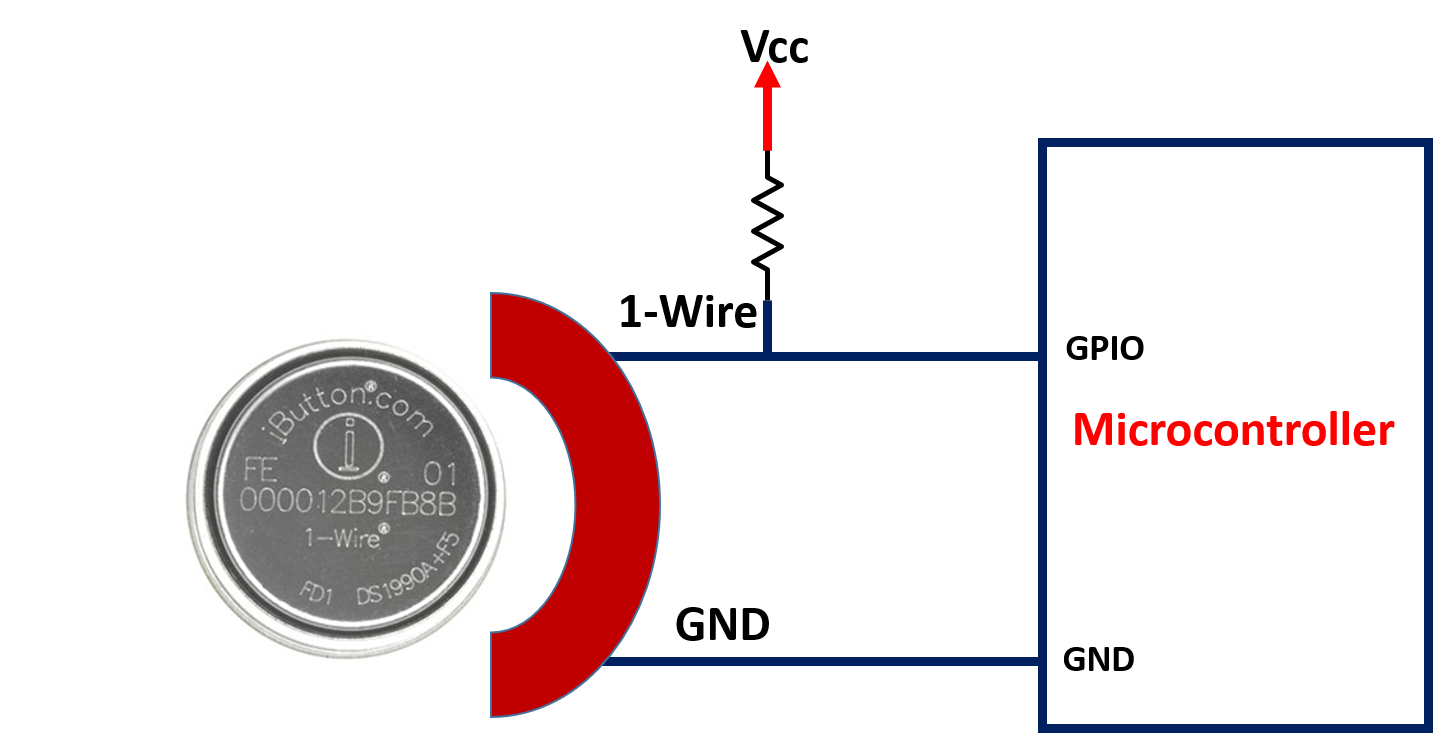 DS19990A iButton interfacing with microcontroller
