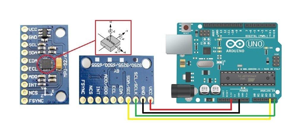 MPU9250 9-DOF MEMS Sensor Module interfacing Arduino