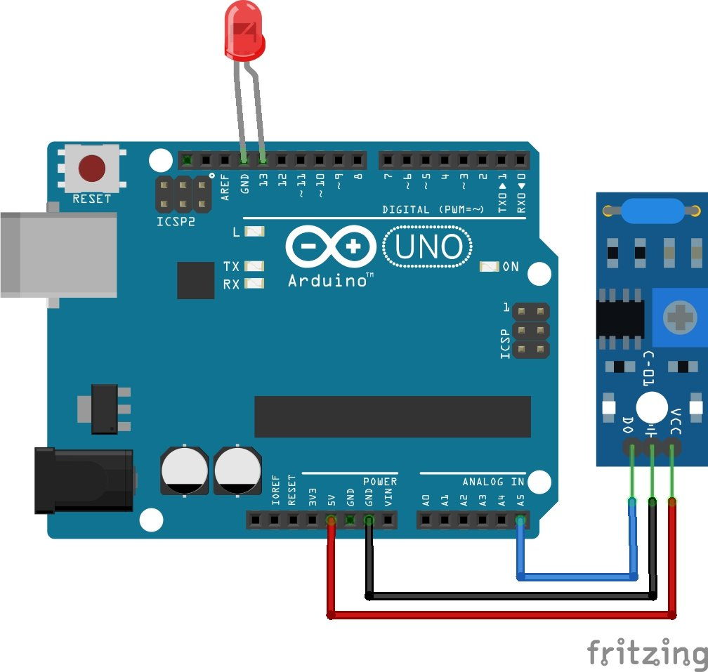 SW-420 Vibration Sensor Module interfacing with Arduino