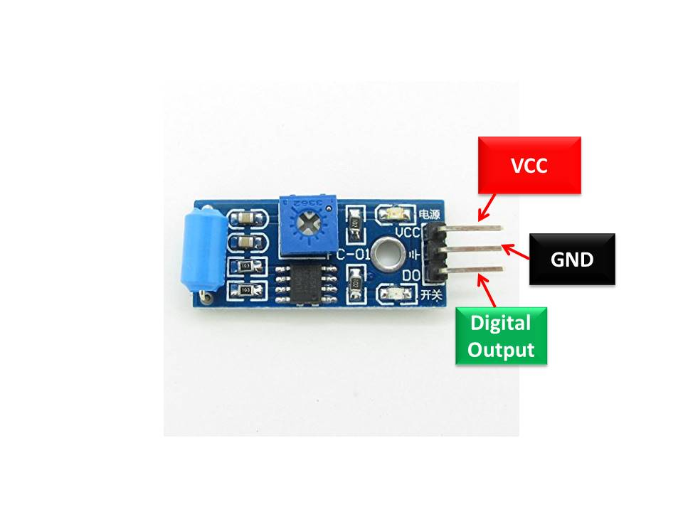 SW-420 Vibration Sensor Module pinout diagram