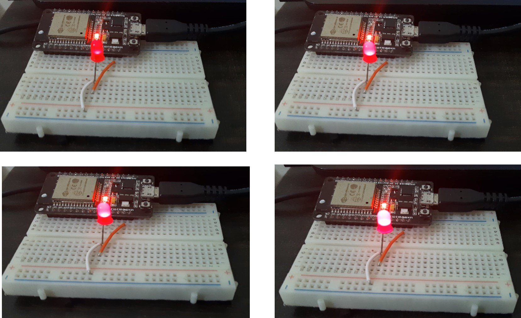 ESP32 ESP8266 LED fading example with PWM and MicroPython