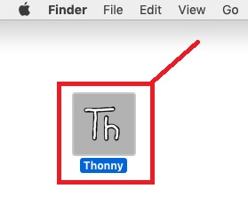 Installing Thonny IDE Mac OS X 9