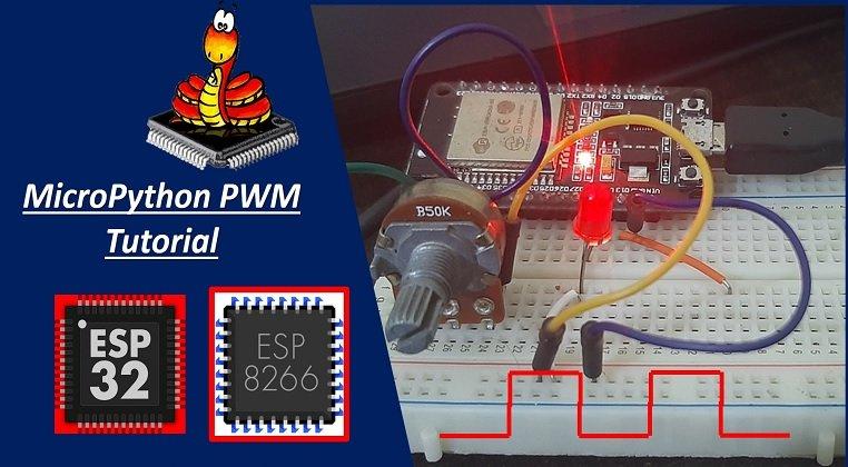 MicroPython PWM with ESP32 and ESP8266