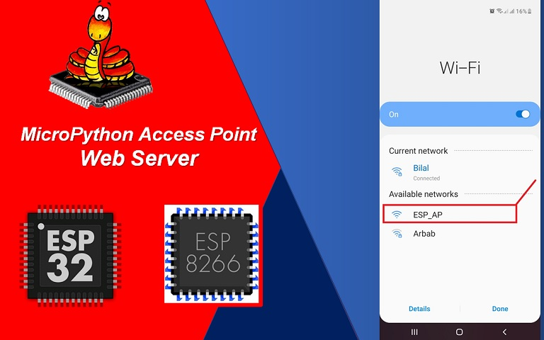 access point web server micropython esp32 esp8266