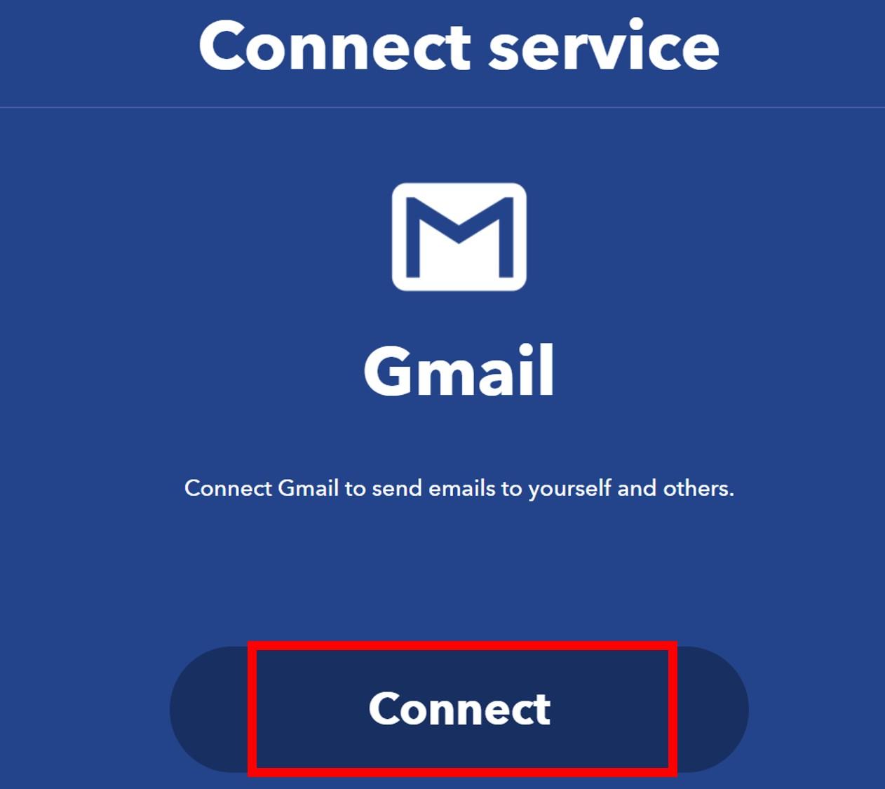 IFTTT create gmail service 13