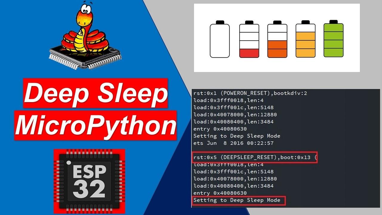 MicroPython ESP32 Deep Sleep Mode and Wake Up Sources