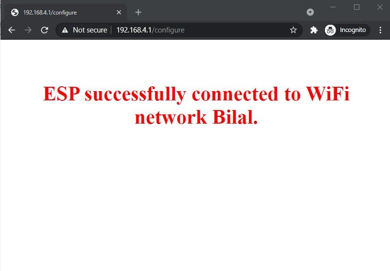 WiFi manager successfully connected to network