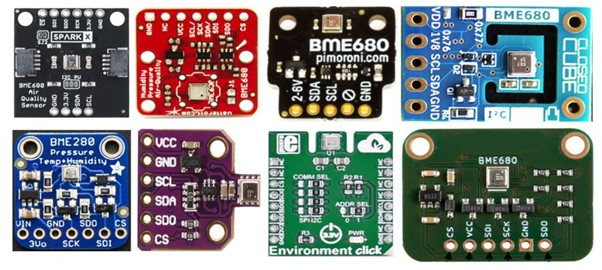 different bme680 sensor modules