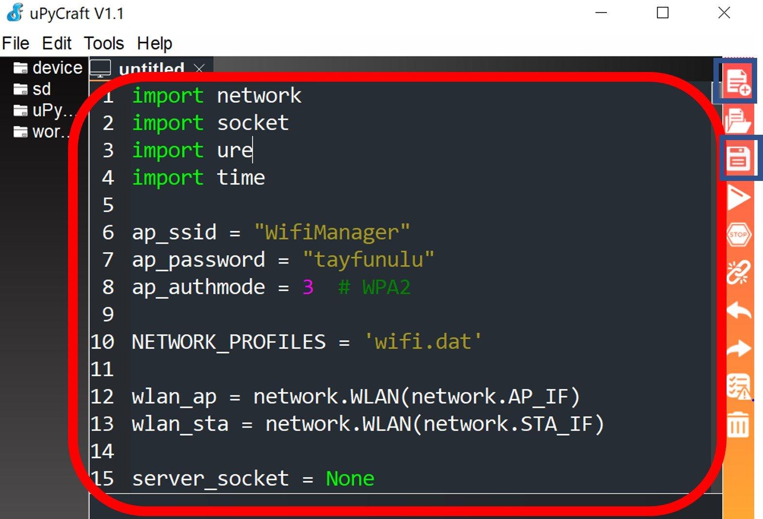 micropython wifi manager library upload upycraft ide 1
