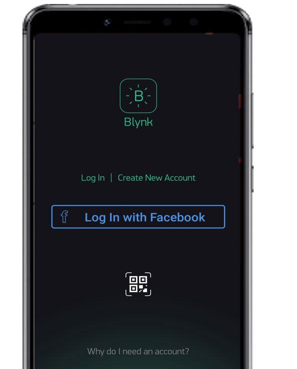 Blynk app account