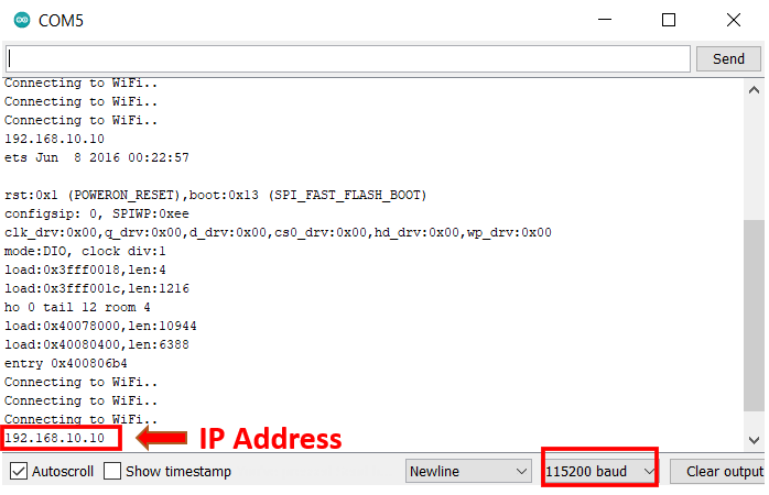 ESP password protected web page IP ADDRESS