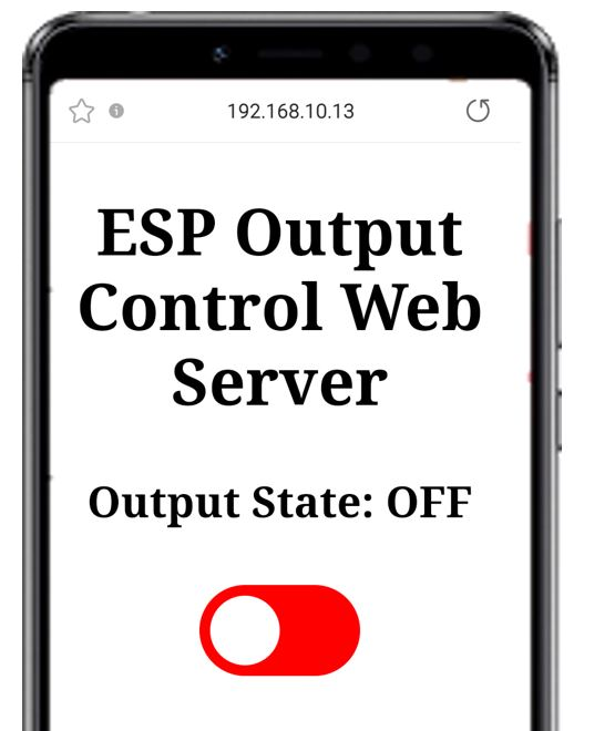 ESP web server & push button demo