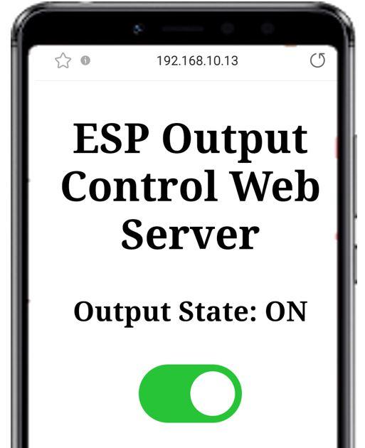 ESP web server & push button demo2