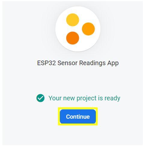 ESP32 Google Firebase build your own app 3