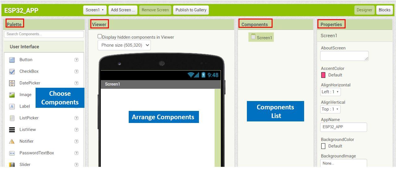 ESP32 Google Firebase build your own app MIT Inventor 2